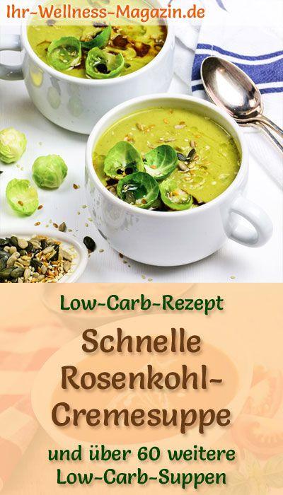 Schnelle Rosenkohlcremesuppe - gesundes, einfaches Low-Carb-Rezept