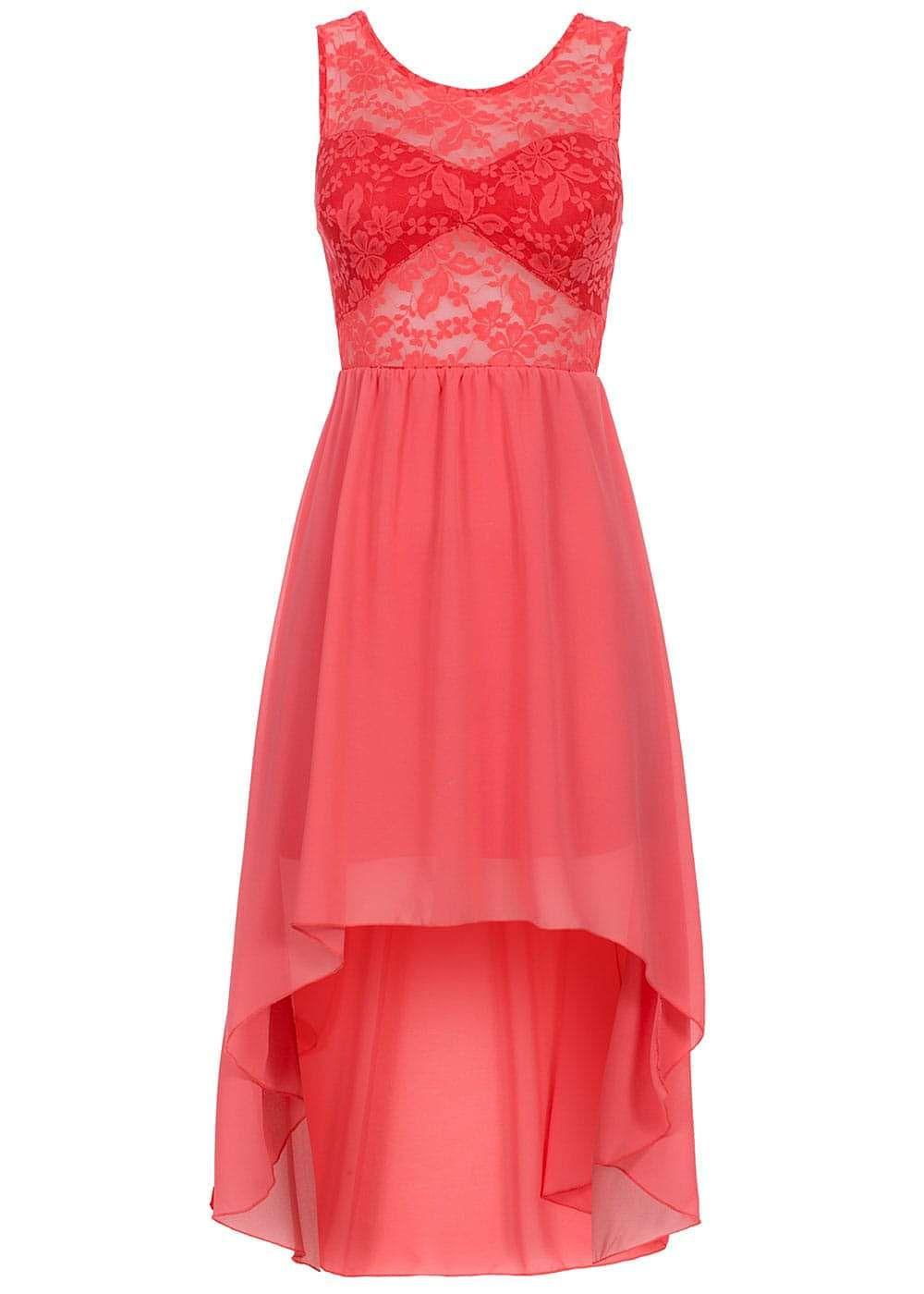 4245dd23cf47 Styleboom Fashion Damen Vokuhila Kleid teils transp Spitze Gummizug ...