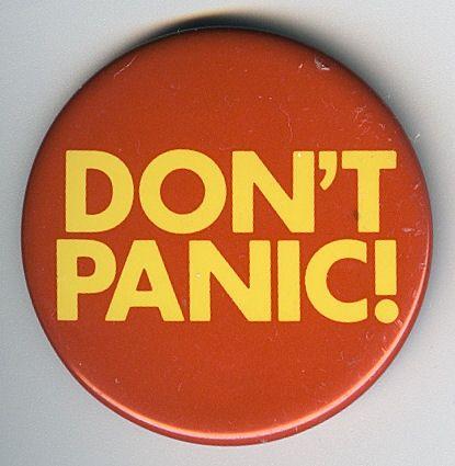 Don't Panic Badge - Foter