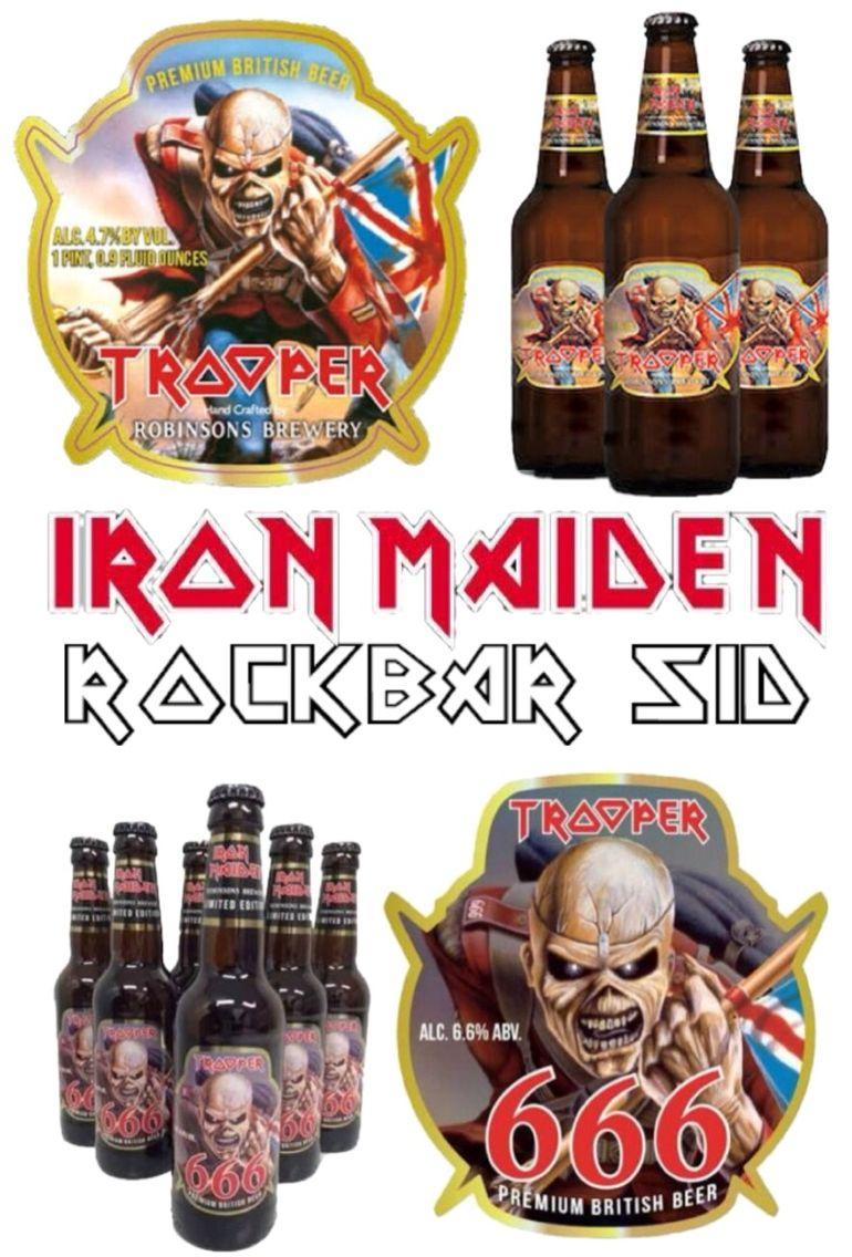 Iron Maiden Trooper Beer and 666 Beer.
