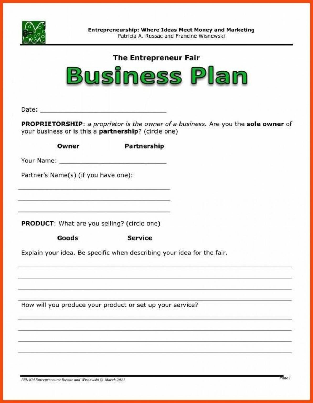 022 Business Plan Template Free Word Download within