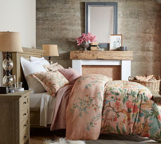 Marlena Antique Rectangular Mirror Matching Bedding