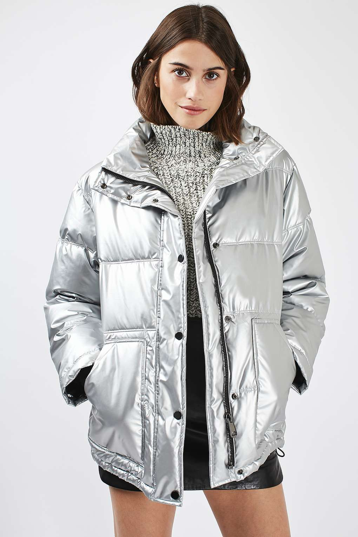 Puffer Jacket in 2020 Girls puffer jacket, Metallic
