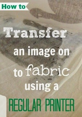 How To Transfer An Image Onto Fabric Using Wax Paper And Your