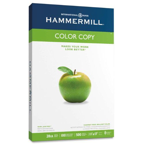 Hammermill Color Copy Paper 28lb 11 X 17 Inches 100 Bright 1 Ream Of 500 Sheets 102541 Hammermill Http Www Amazon C Color Copies Laser Paper Copy Paper