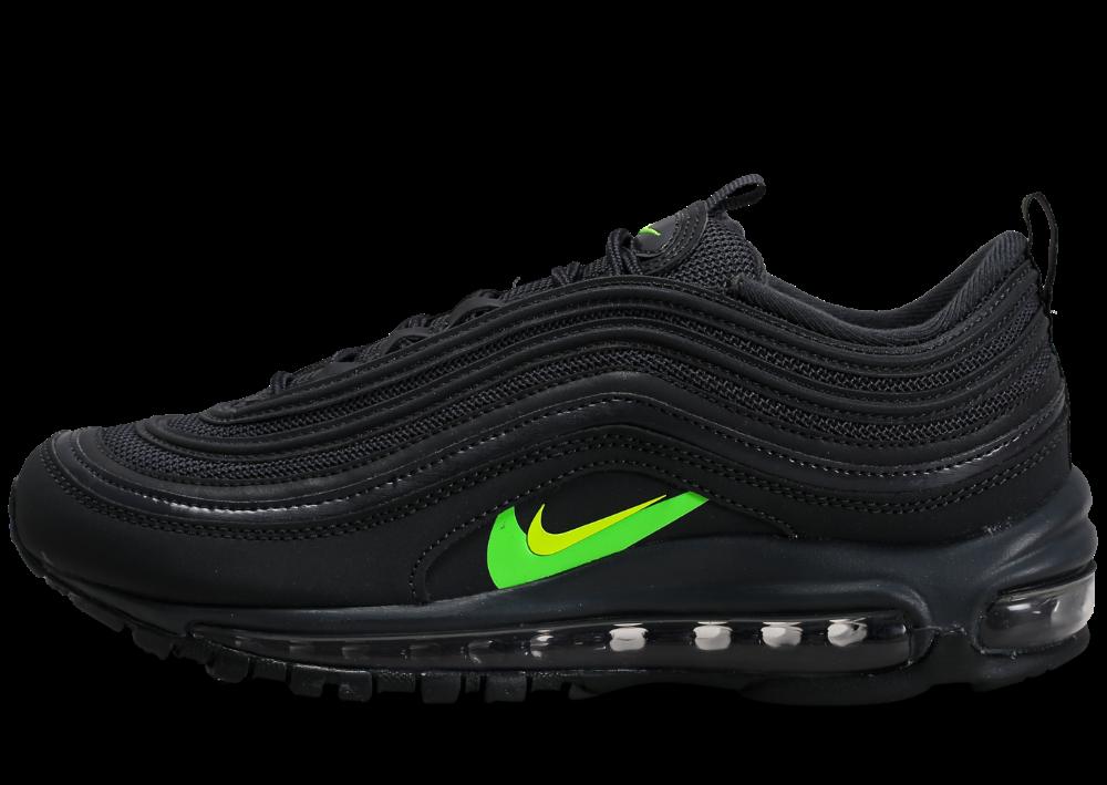 Nike Air Max 97 noir vert électrique Volt | Nike air max, Nike air ...
