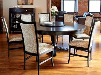 Pedestal Table  Iris Colection  Pinterest  Dining Furniture Delectable Circular Dining Room Table Inspiration Design