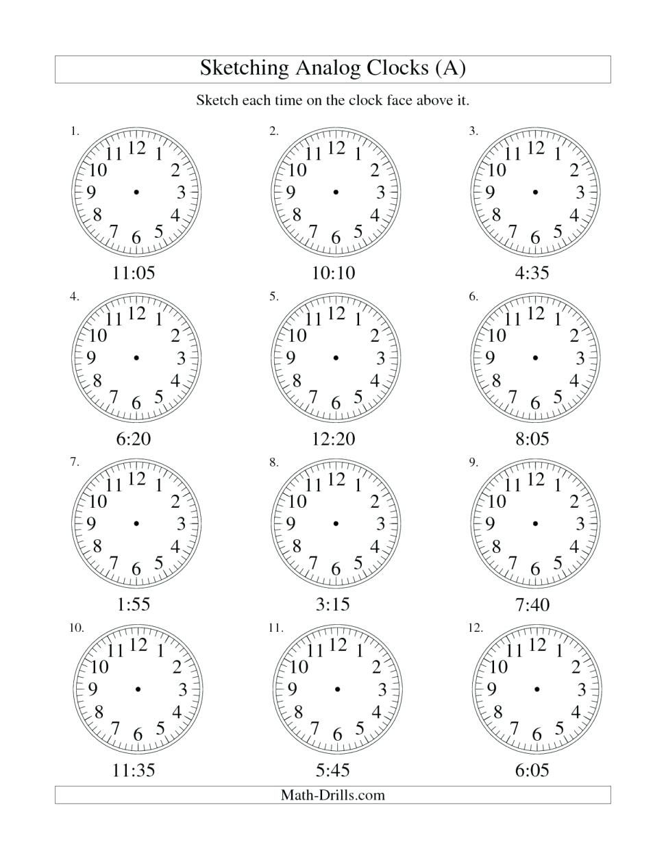 Free 1St Grade Time Worksheets Pictures - 1st Grade in ...