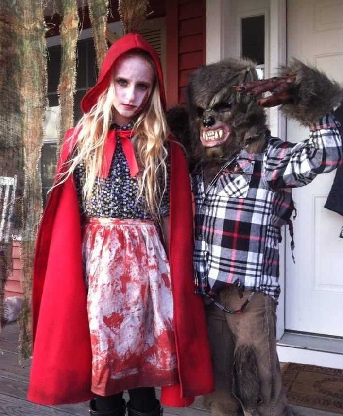 Little Dead Riding Hood and Wolfman | Best kids costumes ...