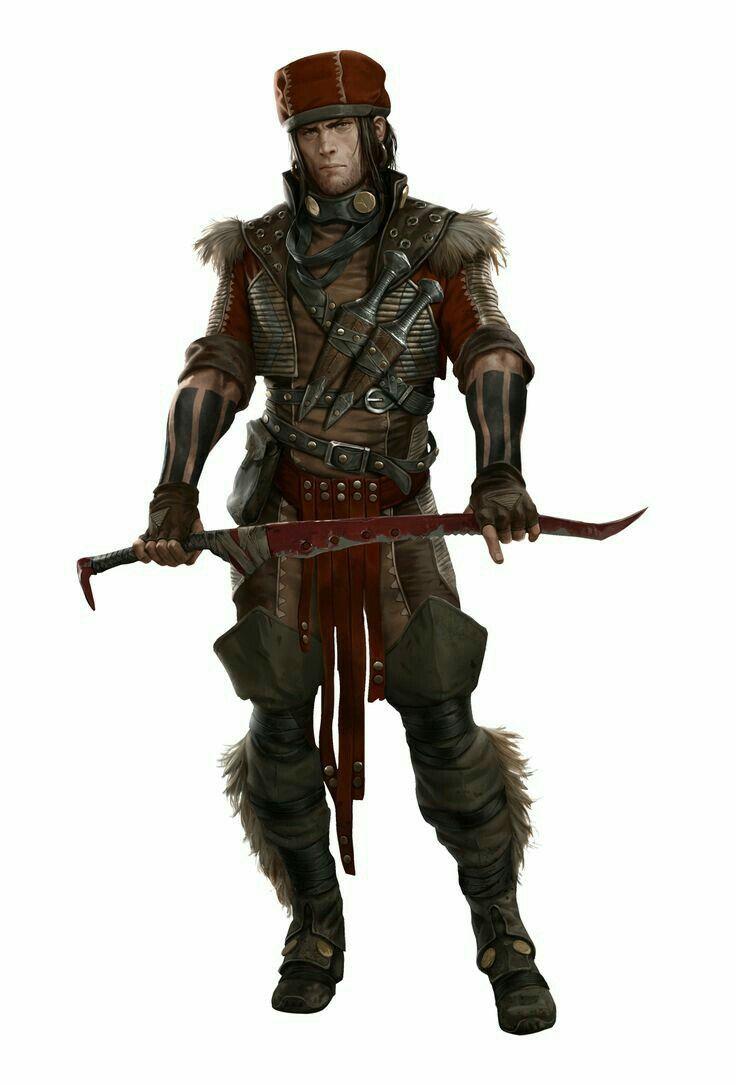 Human Male Slayer Warrior - Pathfinder PFRPG DND D&D d20 ...