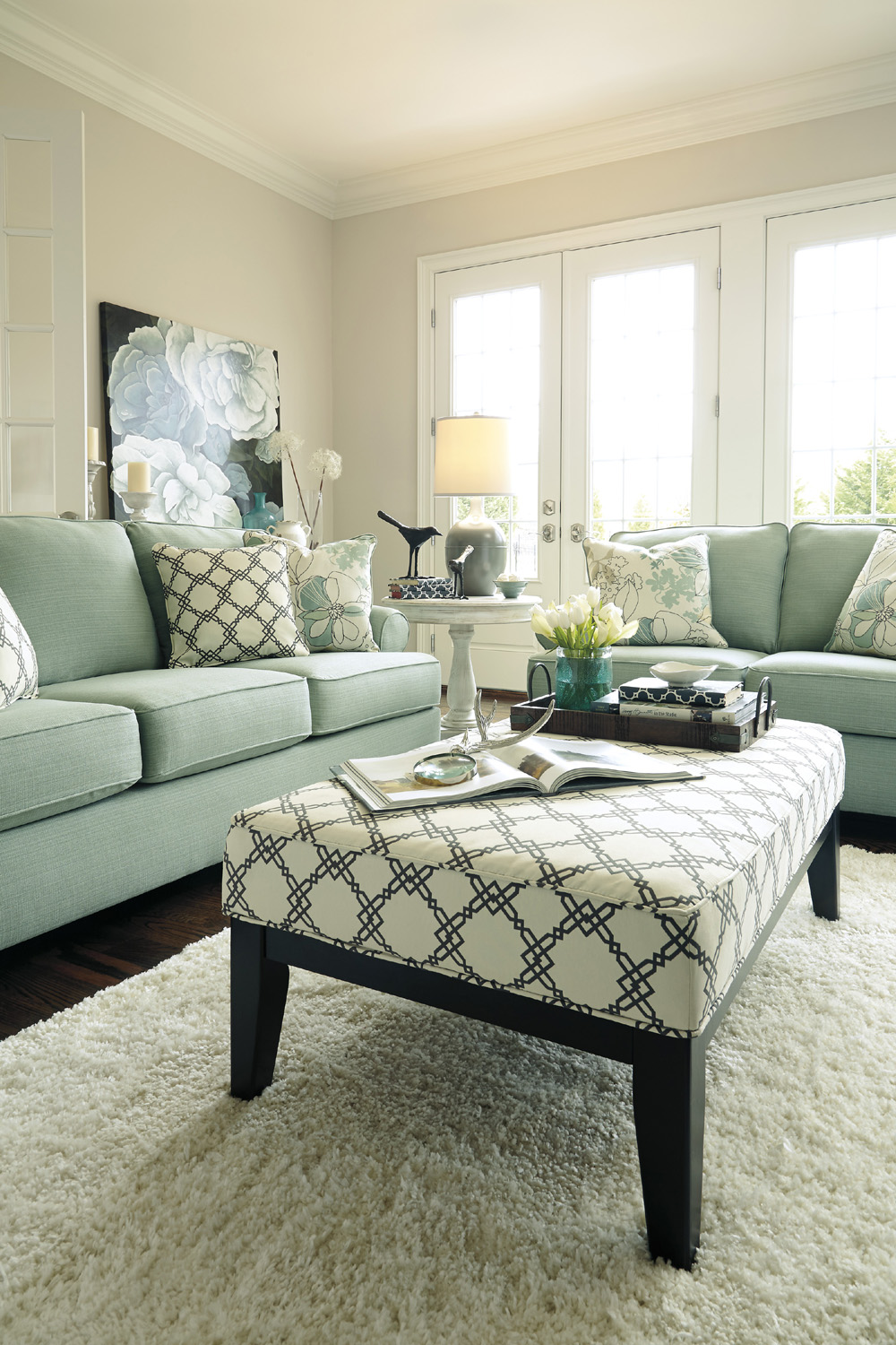 Oversized Accent Ottoman Ashley Home Gallery Stores Living