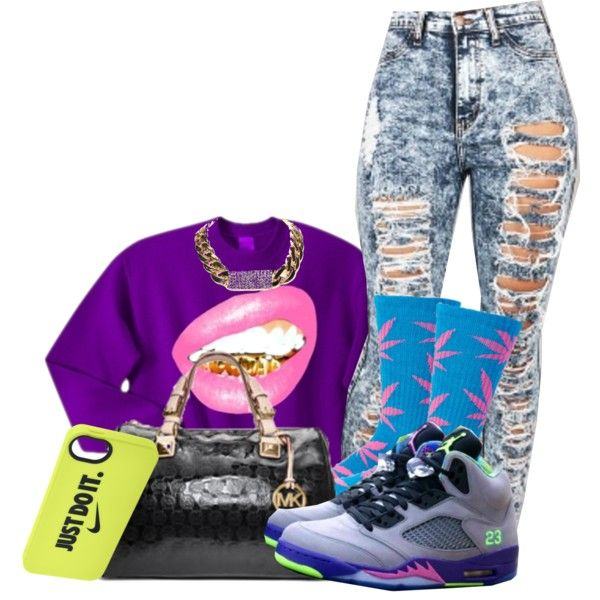 A fashion look from November 2013 featuring HUF socks, Michael Kors handbags and NIKE tech accessories. Browse and shop related looks.