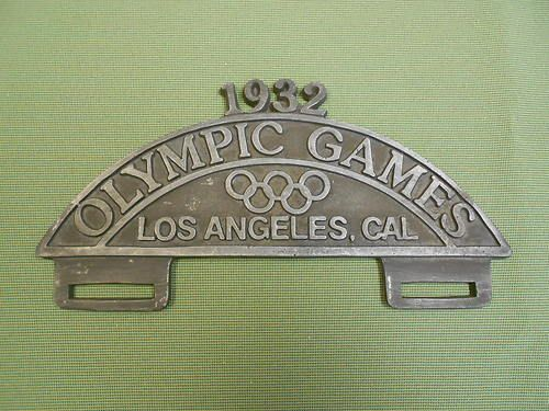 Olympic Games 1932 Los Angeles License Plate Topper Ebay License Plate Topper Plate Topper Olympic Games