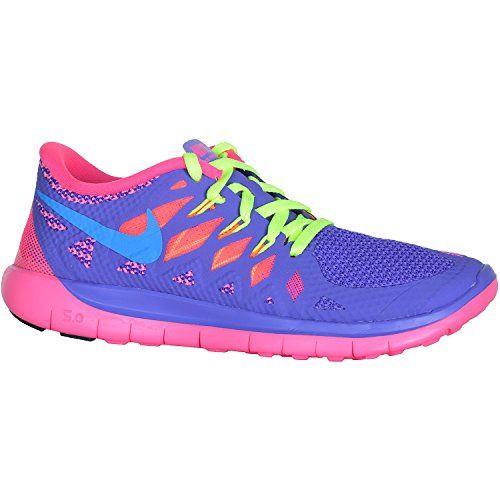 meet 499f8 35c99 Girl s Nike Free 5.0 Running Shoe Purple Pink Orange Blue Green Size