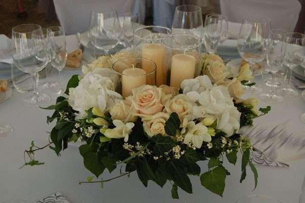 Composizioni floreali per il matrimonio foto pourfemme fiori wedding decorations table - Composizioni floreali per tavoli ...