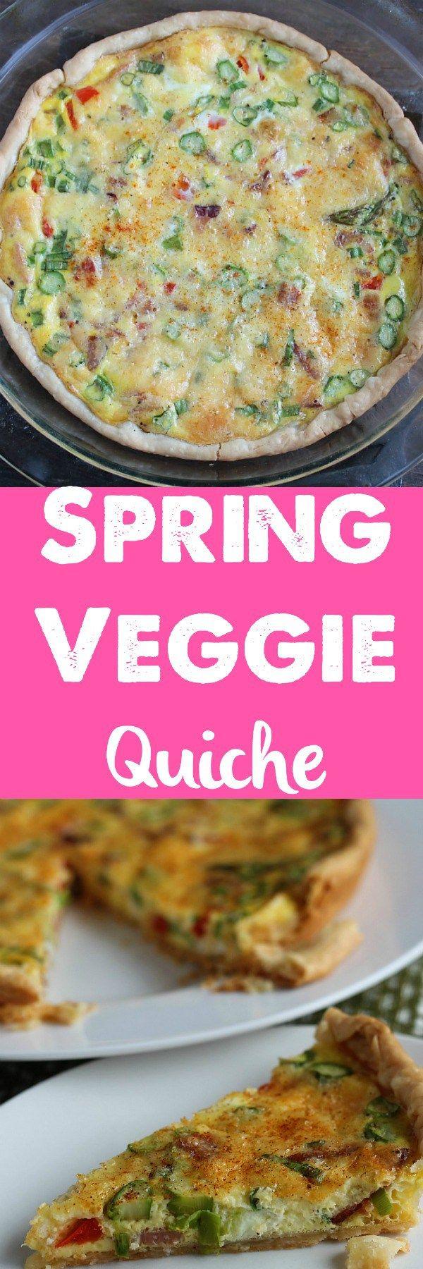 Quick & Easy Spring Quiche Recipe - Dash Of Evans