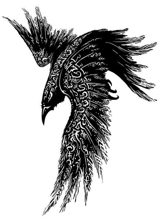 tribal raven tattoo google ravens pinterest ravens rh pinterest com Tribal Crow Tattoo Skull Tribal Crow Tattoo Skull