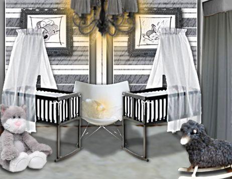 Idée déco : une chambre de bébé douce et chic pour des jumeaux ...