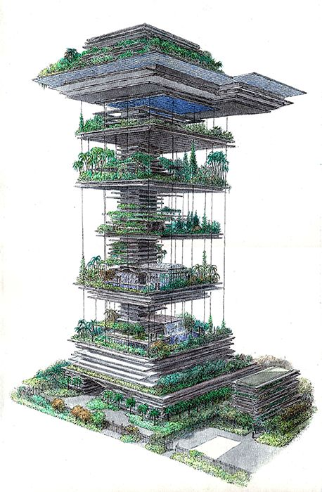 Billionaire homes01 is part of Futuristic architecture Green Home - Antilia, Mumbai  Design courtesy Perkins and Will