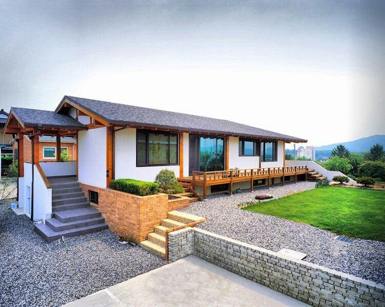 Korean style house with modern touch | Small house design ...