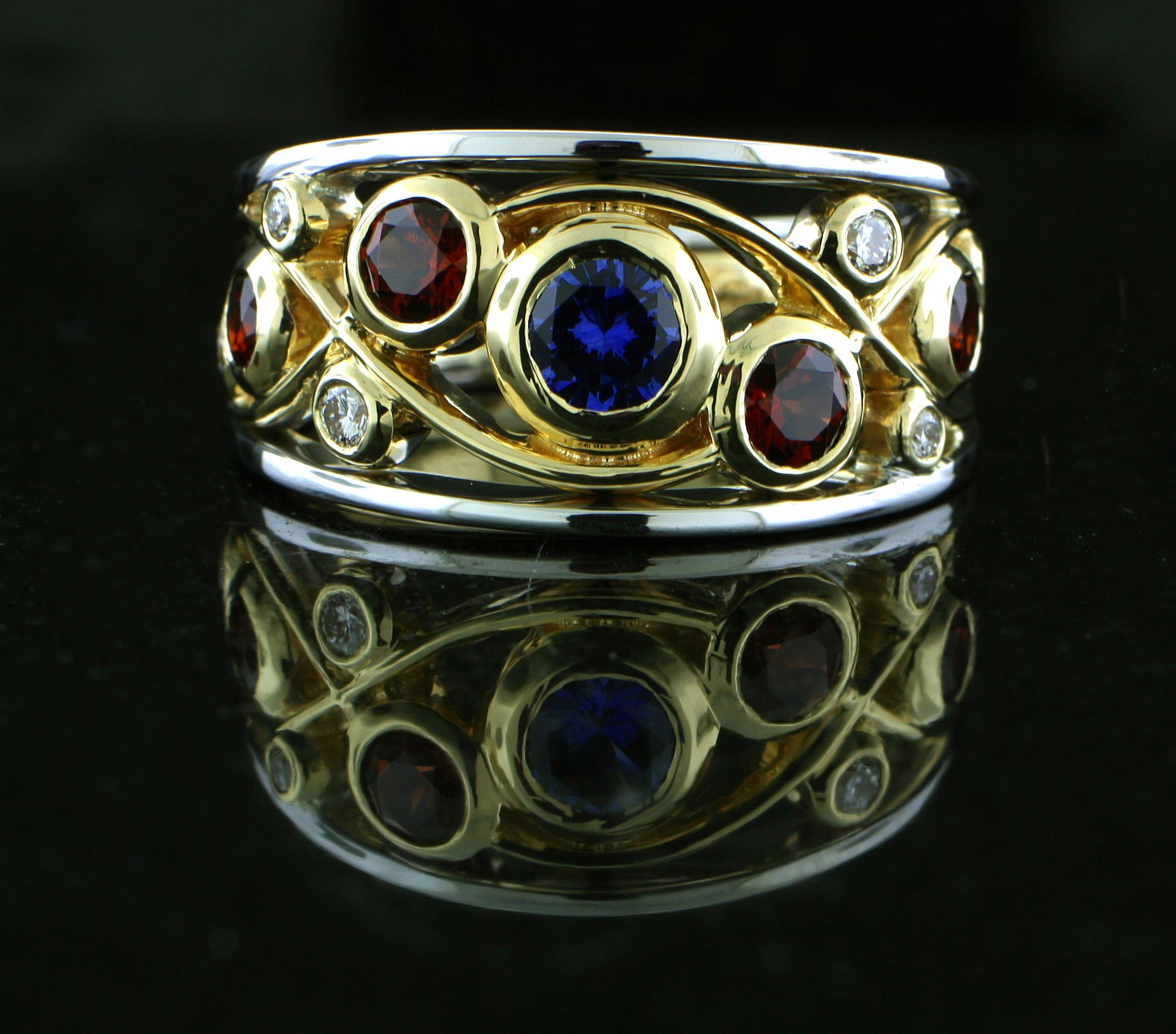 14k Two Tone Ring Was Custom Fabricated And Hand Made With