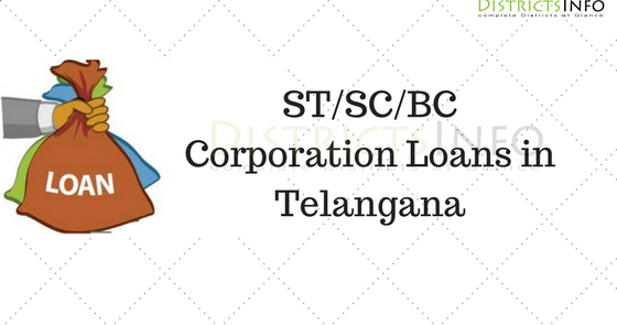 ST/SC/BC Corporation Loan Online 2017-2018 in Telangana State
