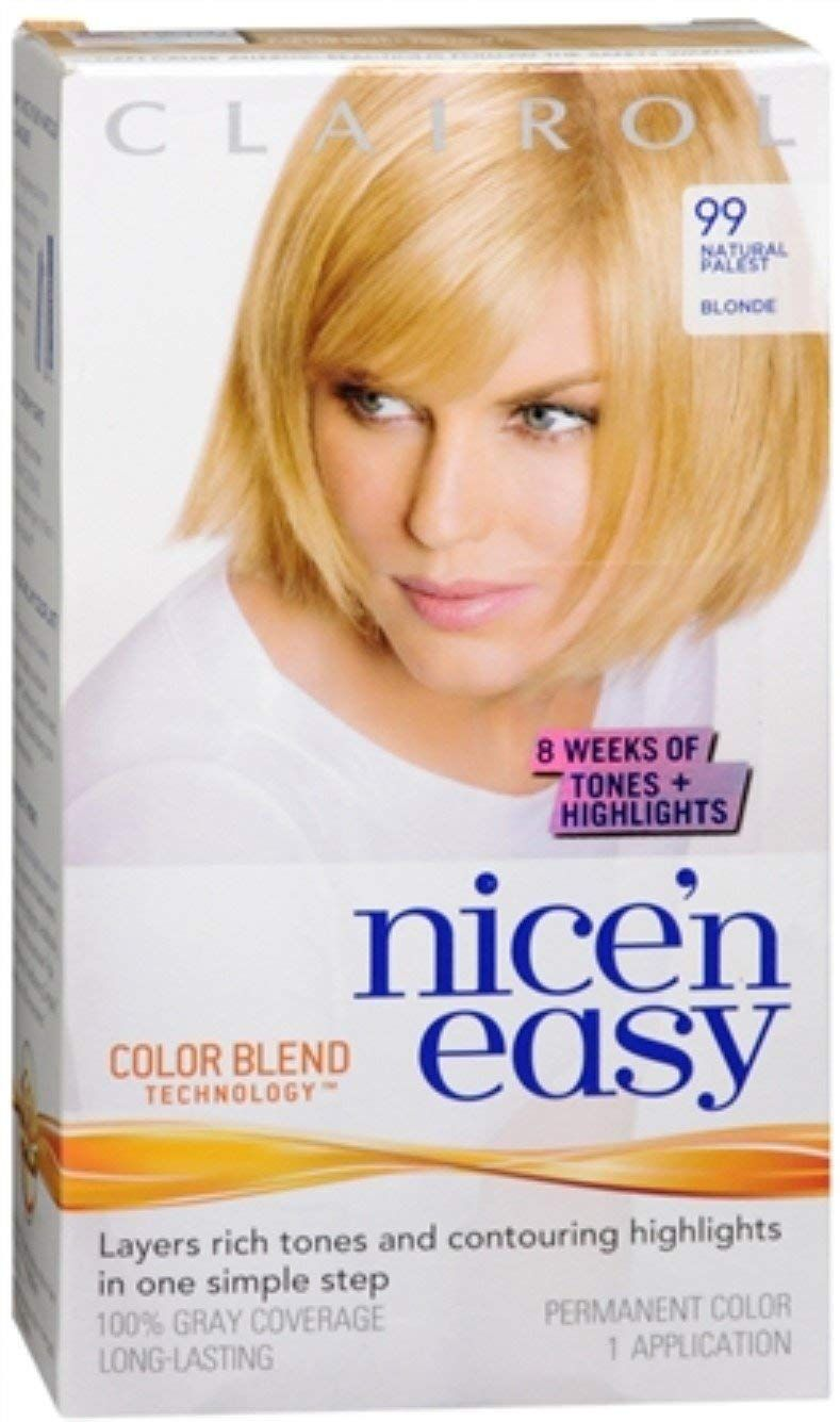 Nice Easy Permanent Color Natural In 2020 Pale Blonde Hair Color Fun Easy