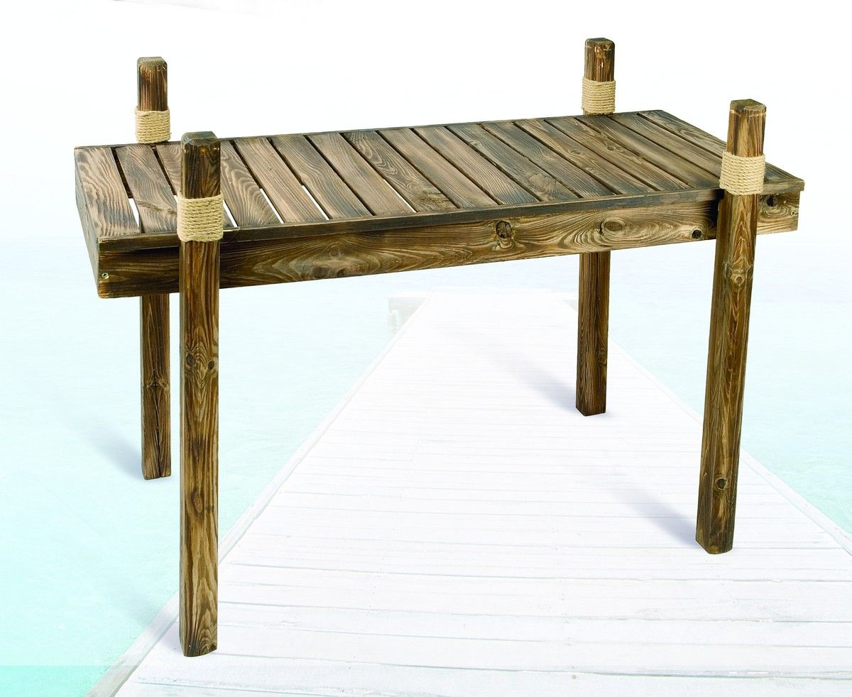Wooden Dock Table Nautical Outdoor Furniture Patio