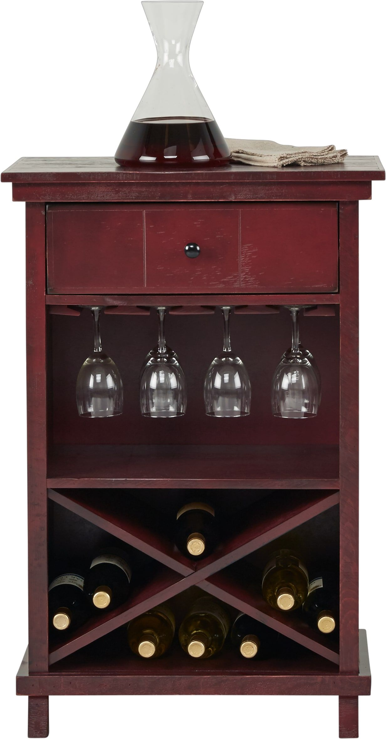 Havenwood Red Wine Cabinet Wine Cabinets Cabinet Home Accents