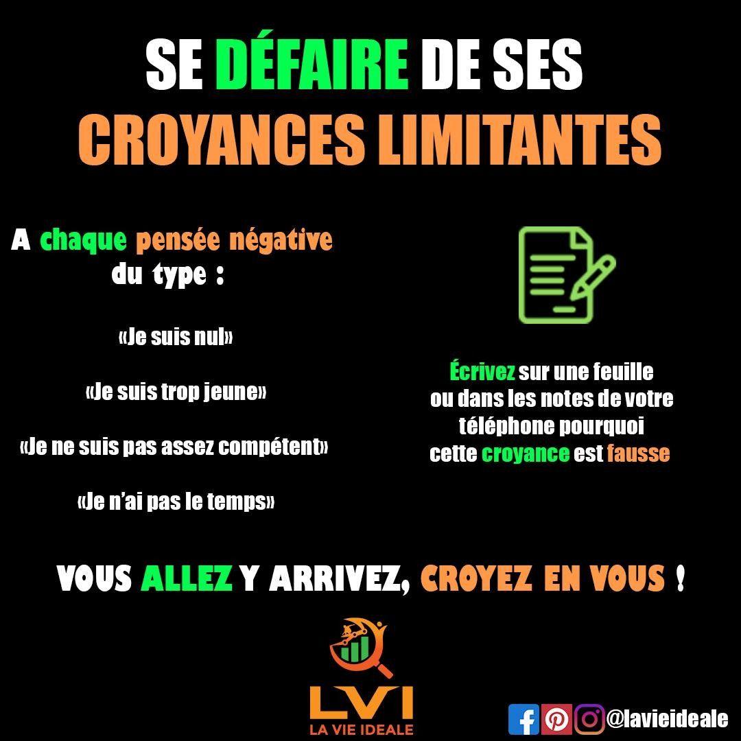 Lavieideale Posted To Instagram Les Croyances Limitantes Peuvent Clairement Vou Motivation Coaching Developpement Personnel Citation Motivation Reussite