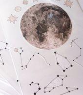 Photo of Mond Tätowierung / / Constellation Tattoo – Star Tattoo – Tätowierung Pack – F…