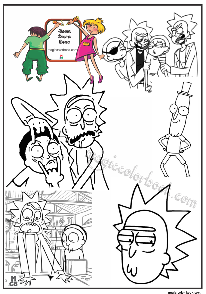pin by magic color book on rick and morty coloring pages free pinterest