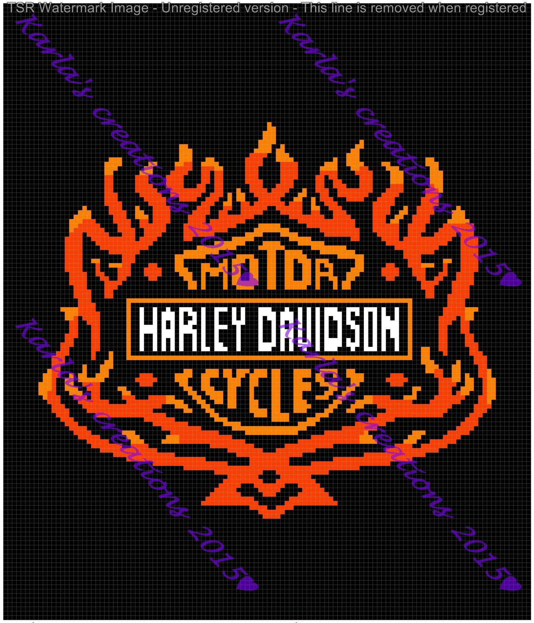 Harley Davidson Logo With Flames 120 X 140 Please Leave Me A Message