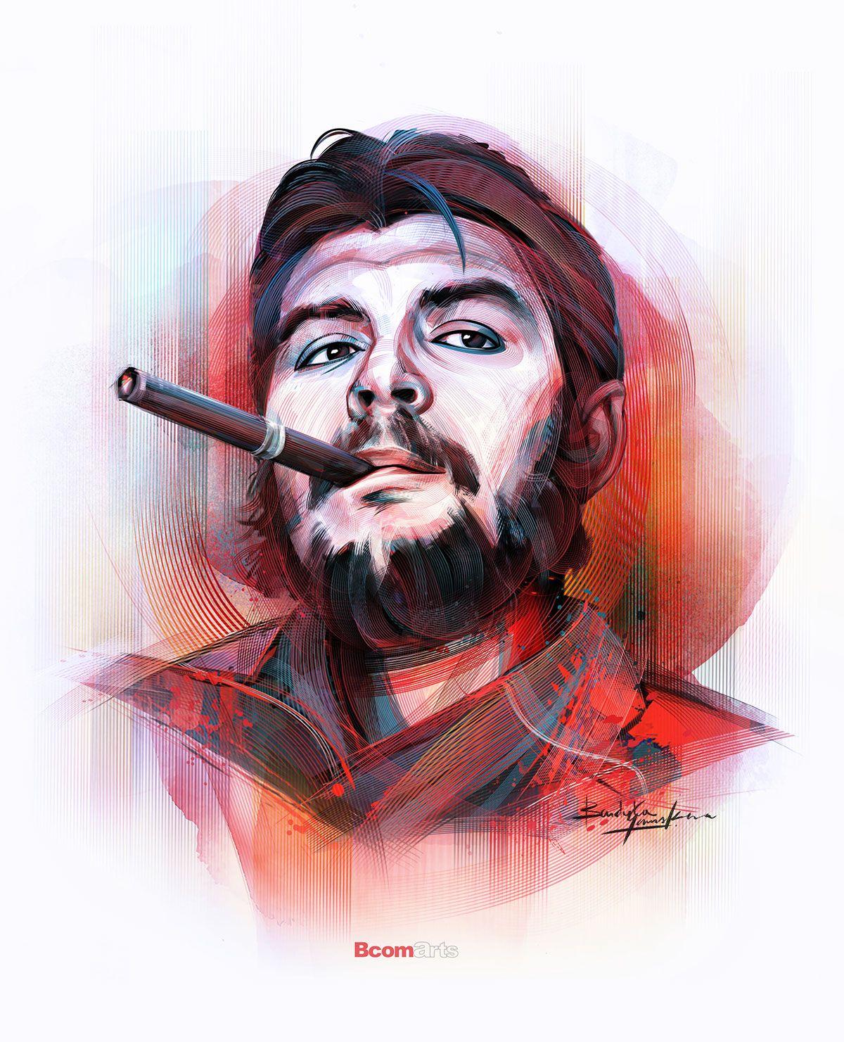 Che Guevara A Digital Revolution In Photoshop On Behance Che Guevara Art Che Guevara Images Che Quevara