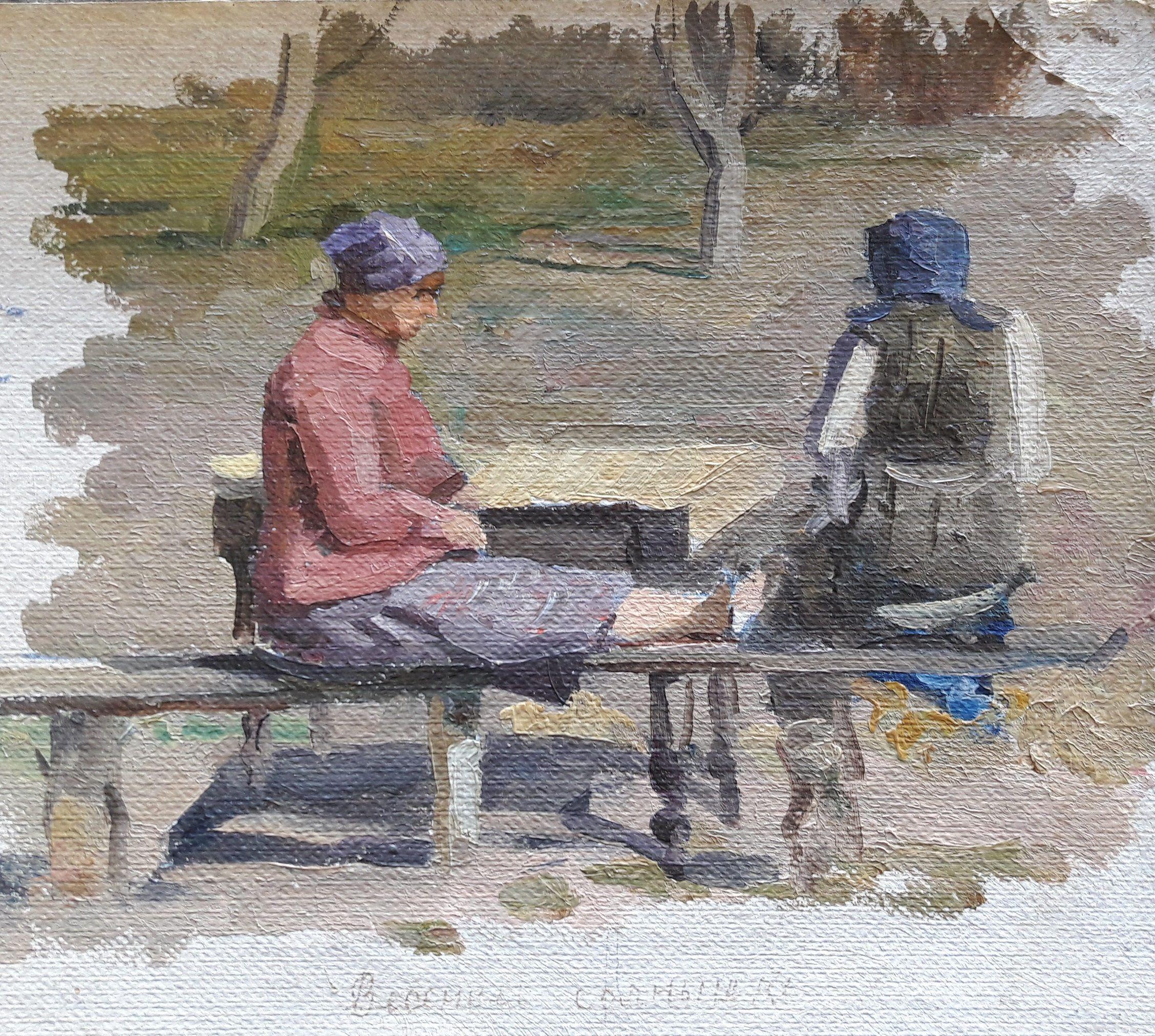 Original Oil Painting, Ukrainian Artist, Soviet Vintage Painting, European Fine