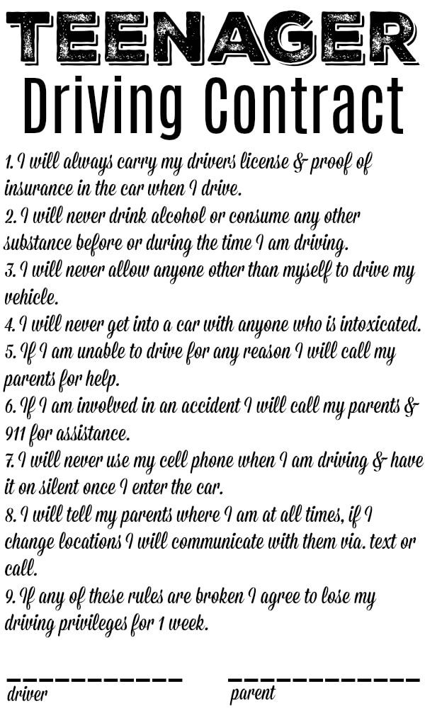 Boost Near Me >> If you have a new driver in the house you might appreciate this teen driving contract printable ...