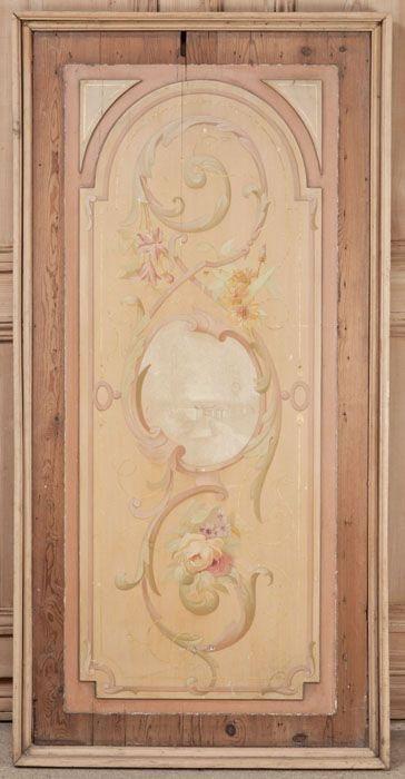 Antique Wood Paneling For Walls: Antique French Painted Wall Panel. Hand-painted On A Solid