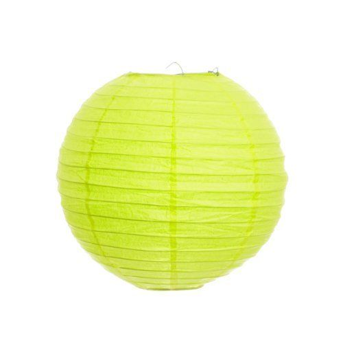 Koyal 24 Inch Paper Lantern, Lime Green, Set of 12 by Koyal
