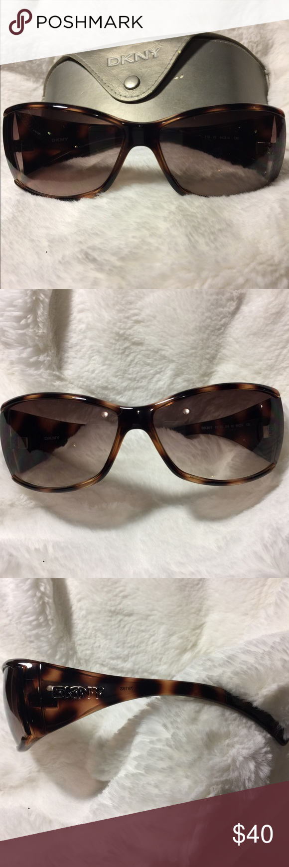 8caae4c2ef81 DKNY (Donna Karan) tortoise sunglasses. These are in great shape! No  scratches or divets