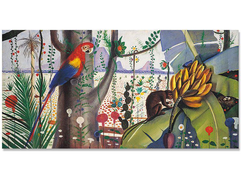 """""""Flora e Fauna Brasileira"""" (1934), de Candido Portinari, presente na mostra """"Portinari e a Poética da Modernidade Brasileira""""/Foto: Divulgação/Galeria Almeida e Dale"""