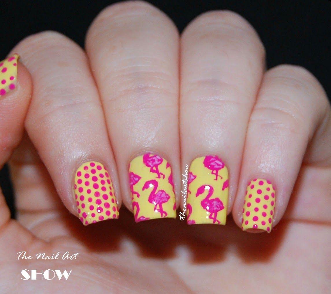 The Nail Art Show Pink Flamingos Nail Polish Afficianado