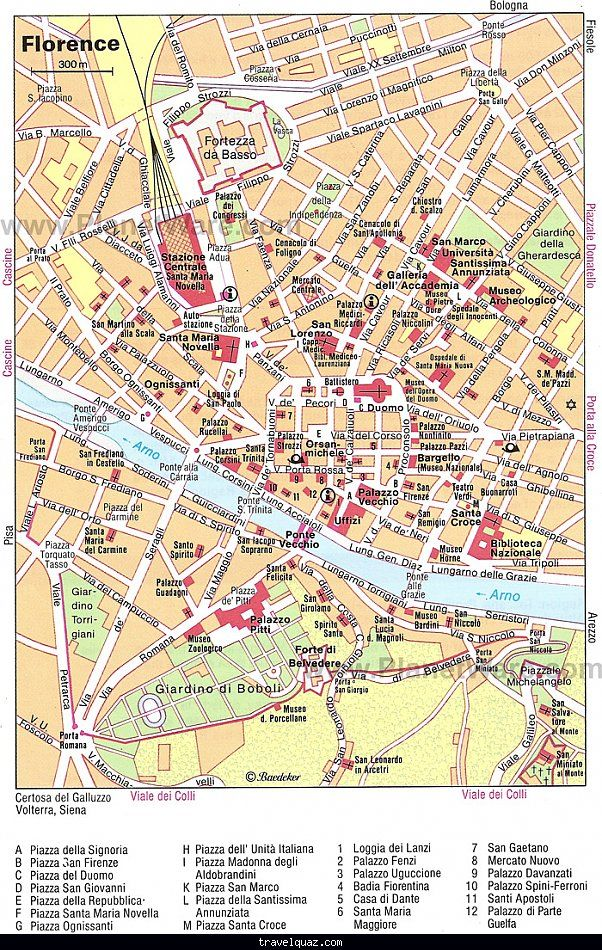 nice FLORENCE TOURIST MAP Travelquaz Pinterest Tourist map