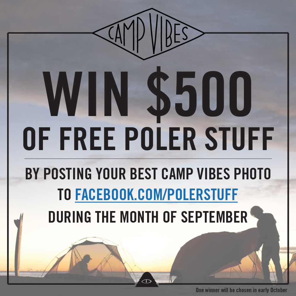 Post your best camp vibes photo to facebook.com/polerstuff during the month of september!     #campvibes #poler #polerstuff