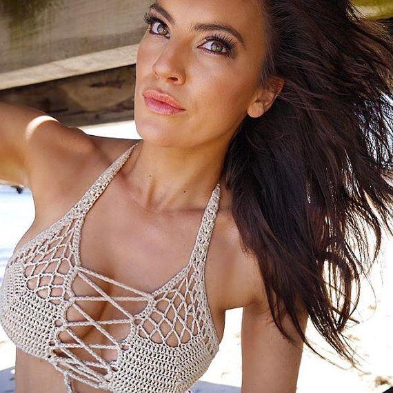 Crochet Bikini - häkeln Badeanzug - Crochet Lace Bademode - handgemachte Bademode Devocean