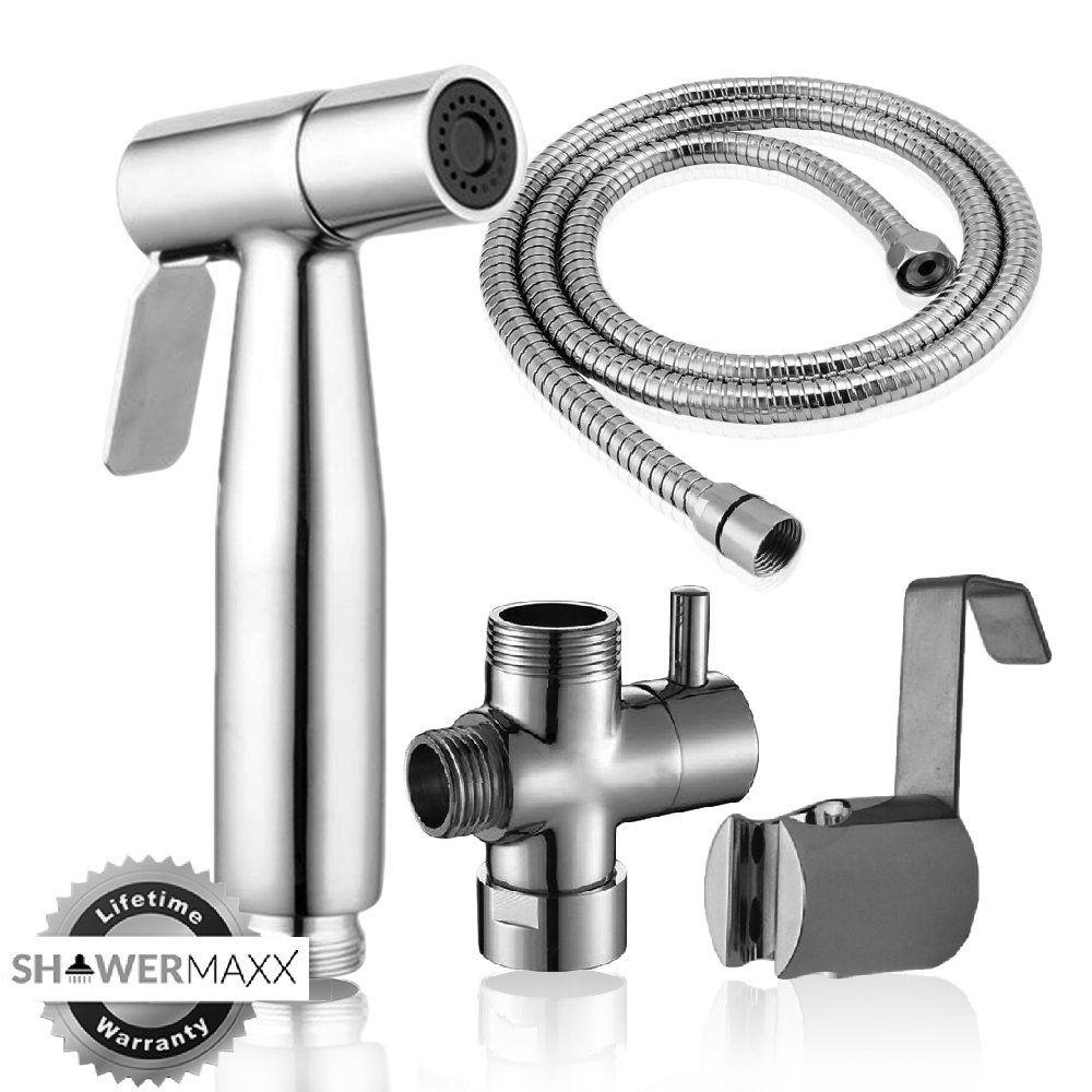 Single Stainless steel Bathroom Handheld Toilet Bidet Shattaf Sprayer Chrome