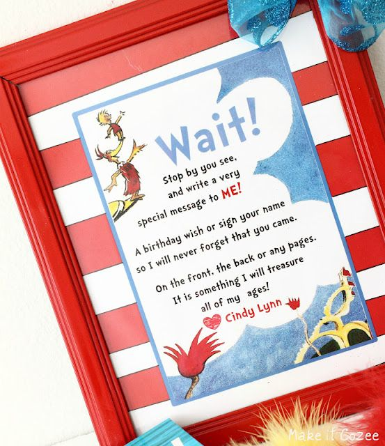 image relating to Dr Seuss Happy Birthday to You Printable called Delighted Birthday in the direction of Yourself\
