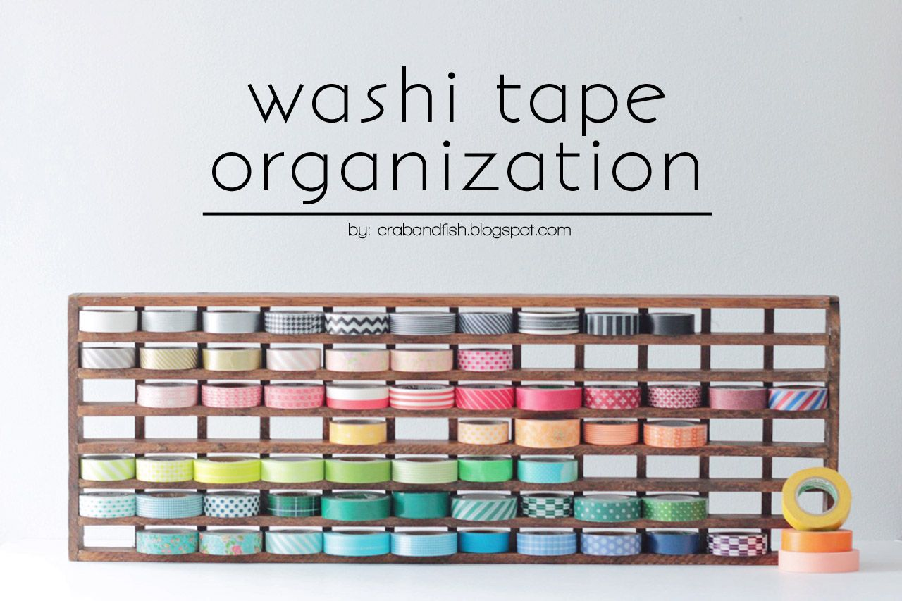 Repurposed floor grate becomes washi tape storage - LOVE this!