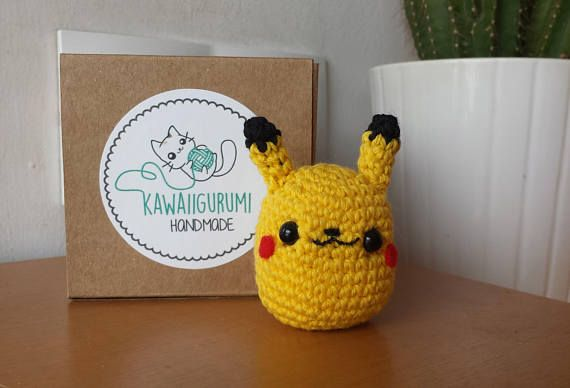 PATTERN Pikachu pokemon crochet kawaii amigururmi ES/EN