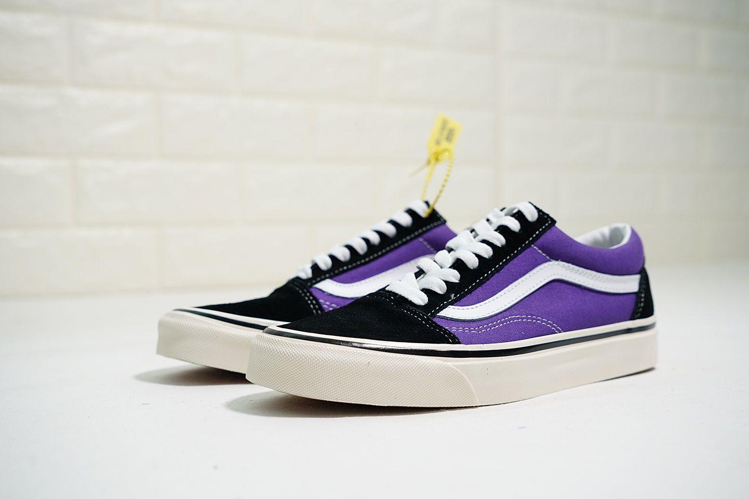vans官網vans old skool 36 dx 時尚情侶低筒滑板鞋香芋紫黑白 7b9334042