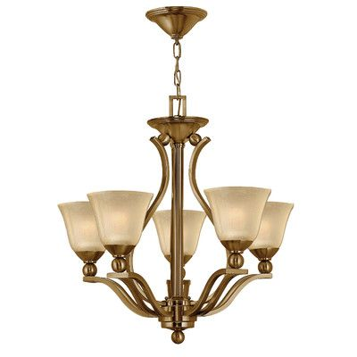 Hinkley Lighting Bolla 5 Light Shaded Chandelier Finish: Olde Bronze, Shade Color: Etched Opal Glass